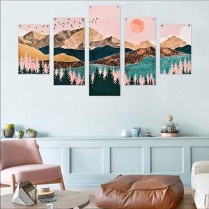 5 Pcs Mountain Tapestries